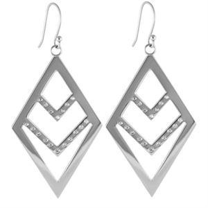 Picture of Silver Chevron Earrings